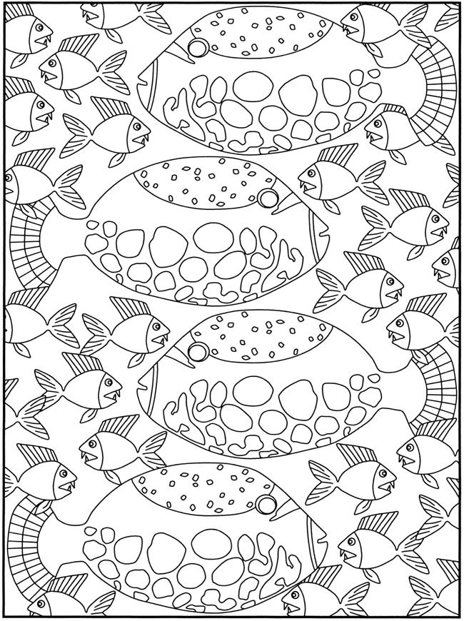 SPARK Fancy Fish Coloring Book Dover Publications