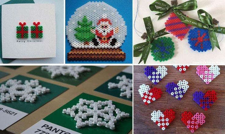 Julepynt hama perler