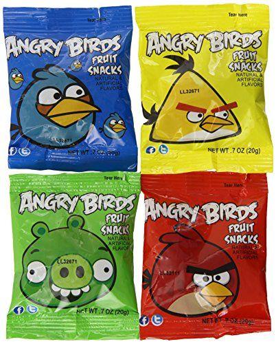 Angry Birds Fruit Snacks 42 Pouch Assortment Variety Box, 29 OZ. Angry Birds http://www.amazon.com/dp/B008AY95RW/ref=cm_sw_r_pi_dp_bWwevb02WJBGD