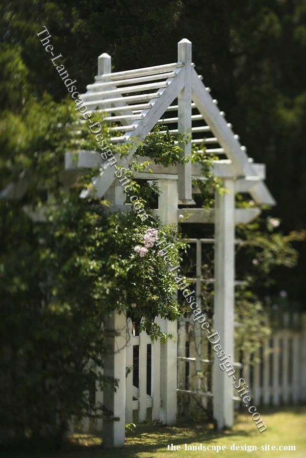 White picket fence garden entry