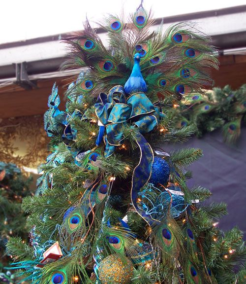 25+ Best Ideas About Peacock Christmas Tree On Pinterest
