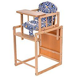 Costzon 2 in 1 Solid Wooden Baby High Chair Feeding Infant Toddler Table Kids Child Home