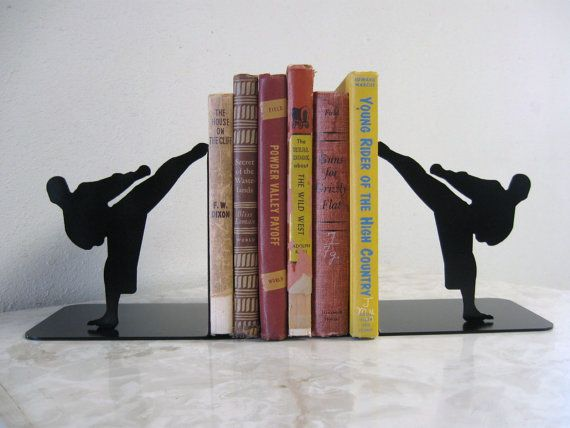 Karate Martial Arts Taekwondo Metal Bookends by just4theartofit, $56.00