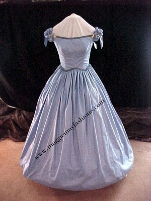 simple blue ball gown
