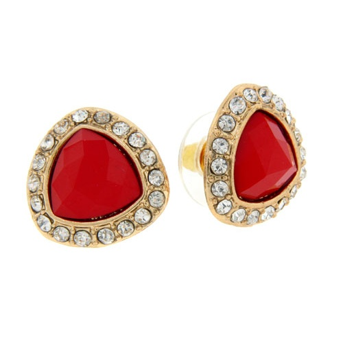 ER110712A-1037A - Stud triangular rhinestone earrings with crystal accents. $3.95