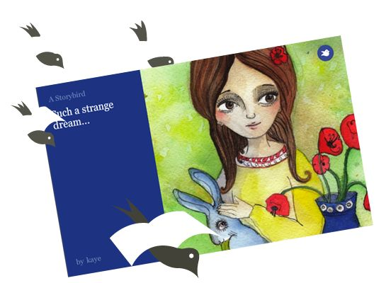 Storybird - a wonderful community where kids and adults can create stories using gorgeous provided illustrations