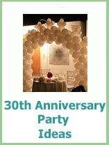 30 Year Wedding Anniversary Party Ideas