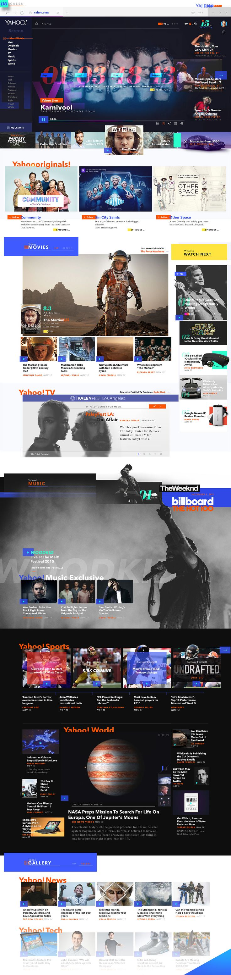 Yahoo! News Redesign Experience on Behance