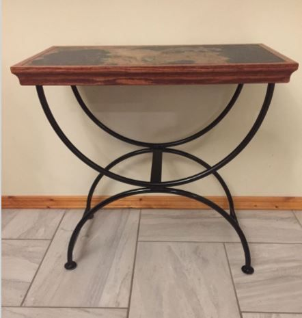 Tile & Metal End Table
