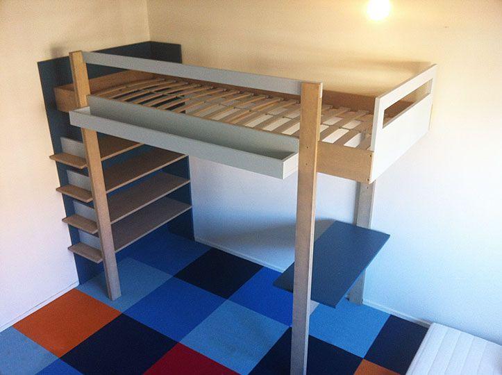 Homemade bunk 39 ana 39 diy design bij neo eko ik heb vorig jaar met veel plezier met behulp van - Loft bed met opbergruimte ...