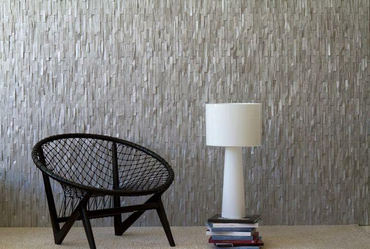 Revestimiento madera color plata