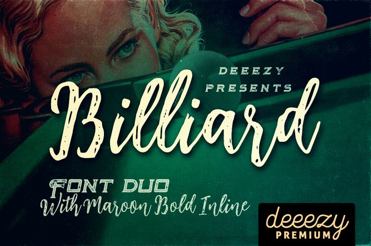 Billiard Font Duo | Deeezy - Freebies with Extended License