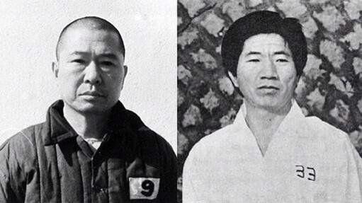 Two former presidents of S.Korea, mr.Kim & mr.Roh.