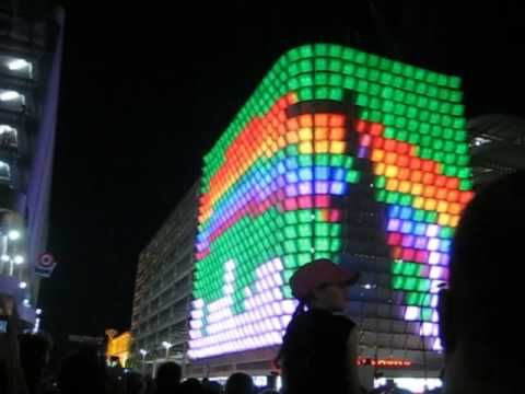 Adelaides rundle mall lantern (pixel building)