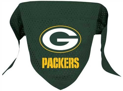 "NFL Dog Bandana Size: Large (21.5"" H x 9"" W x 0.2"" D), NFL Team: Green Bay Packers"