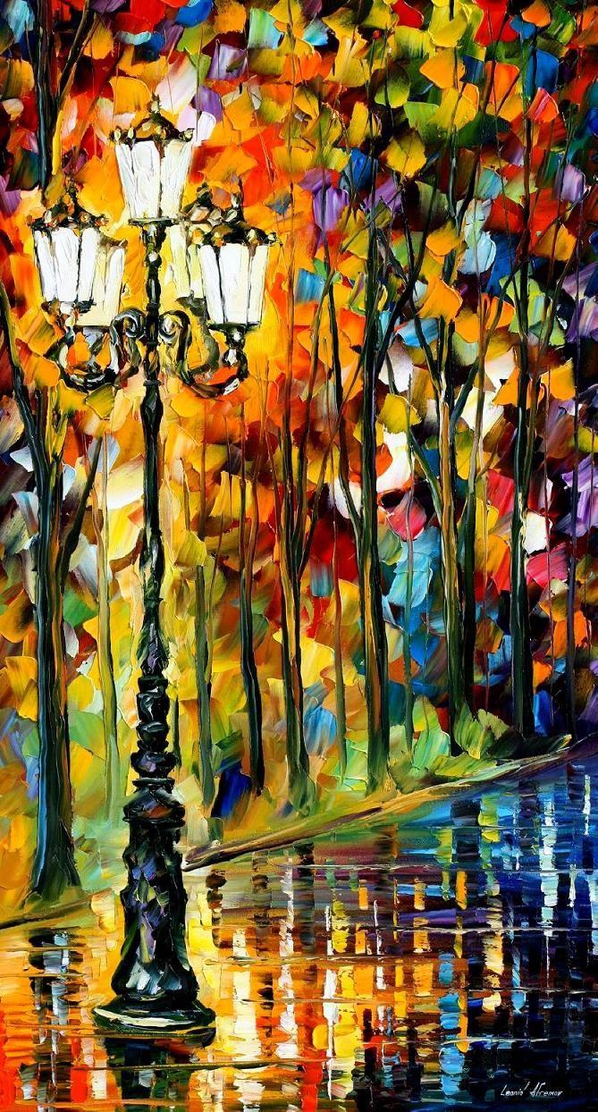 Lonely Light - PALETTE KNIFE Oil Painting On Canvas By AfremovArtStudio, $239.00 #art #painting #gift #design #fineart #Impressionism #homedecor #wallhanging #LeonidAfremov #AfremovArtStudio #pictures