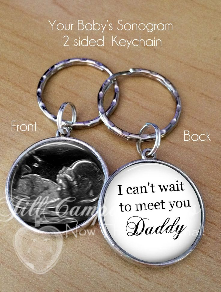 """FATHER'S DAY GIFT - baby sonogram keychain """"I can't wait to meet you Daddy"""" - first Father's Day - gift for Daddy to be by NowThatsPersonal on Etsy"""