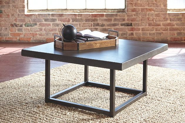 For fans of urban industrial design, the Starmore square coffee table clearly steals the show. Incorporation of sleek, tubular metal adds a modern element, while the tabletop—crafted with cast cement tiles—tops off the look in an ultra-cool way.