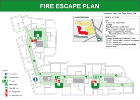 21 best Fire Escape Signage images on Pinterest Fire escape - evacuation plan template