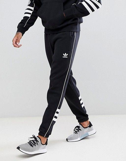 adidas Originals Authentic Sweatpants In Black DH3857  7653ed30846