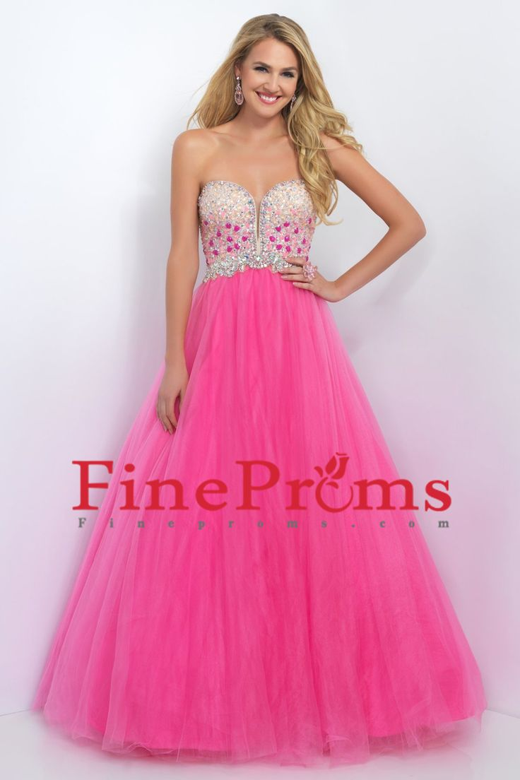 2016 A Line Sweetheart Prom Dresses Tulle With Beads And Rhinestones