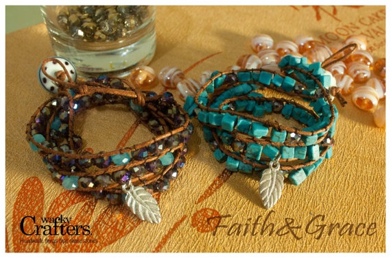 Faith & Grace Triple wrapped bracelet by WackyCrafters on Etsy, $7.50