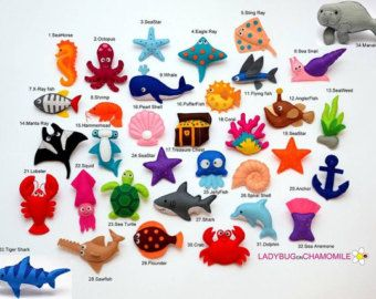 WALD Tiere Tiere Filzmagnete Filz tiere Preis pro 1 Stück by LADYBUGonCHAMOMILE | Etsy