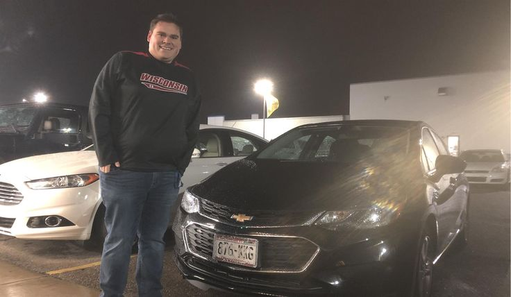 Kyle and Laura's new 2017 CHEVROLET CRUZE! Congratulations and best wishes from Kunes Country Chevrolet Cadillac of Delavan and JOHN BURNS.