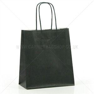 Premium Papiertragetaschen mit Kordelgriffen dunkelgrün