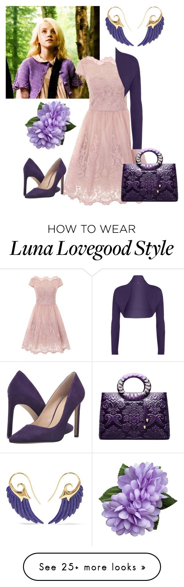 """""""Luna Lovegood"""" by diane-randle on Polyvore featuring Noor Fares, Chi Chi, WearAll and Nine West"""