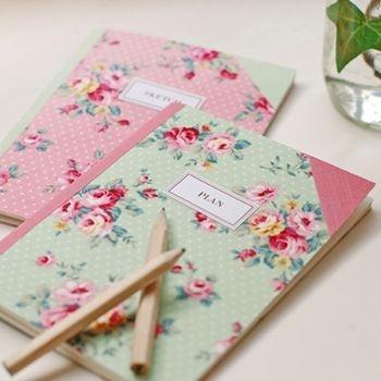 Libreta floral
