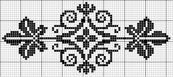Oval 59 | Free chart for cross-stitch, filet crochet | Chart for pattern - Gráfico