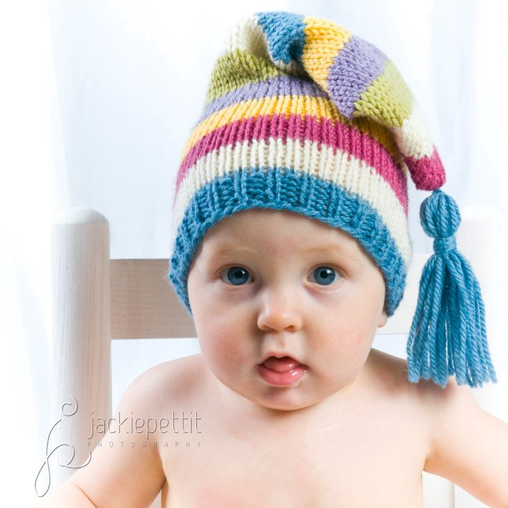 Knitting Patterns For Baby Elf Hats : Knitting Pattern Tutorial: Baby Hat / Stocking Cap / Pixie Hat / Elf Hat