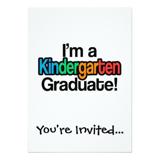 130 best kindergarten graduation invitations images on Pinterest