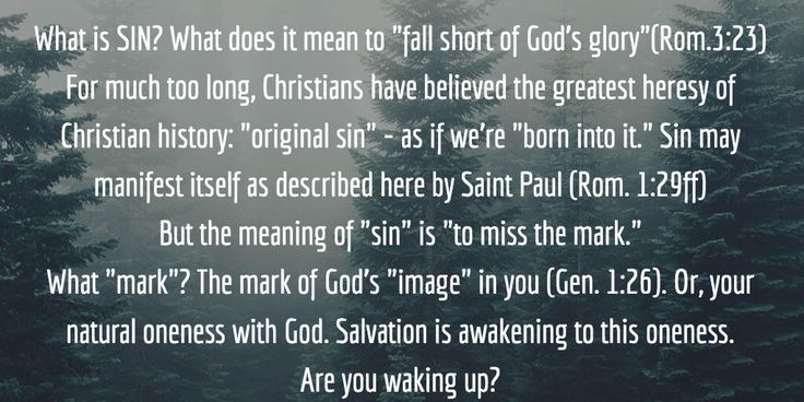 """Sin? What does it mean """"to fall short of God's glory?""""(Rom.3:23) For too long, Christians have believed the greatest heresy of history..."""