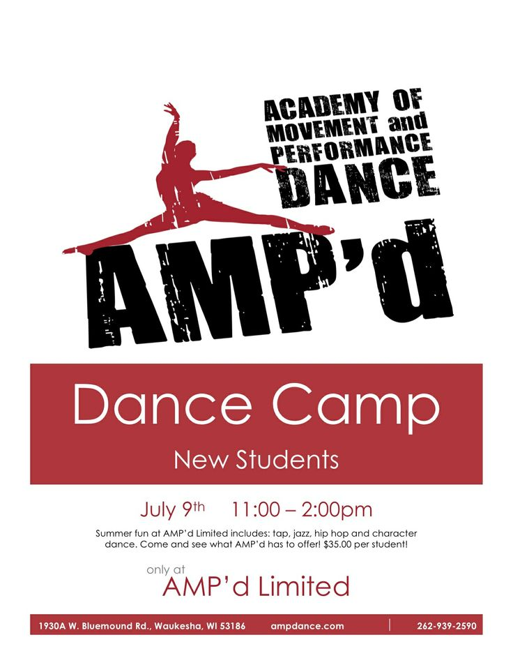 Check out AMP'd Limited Creative Movement, Ballet, Tap  fro Special Needs population. Katie Gatlin (Owner/Director/Instructor) received her B.S. from Carroll University in Psychology  and  M.S. from Capella University in Mental Health Counseling. She also works with the Special Needs population at a Residential Facility. Special Needs classes, dancers  focus on balance, body control,  creative movement building self-esteem.   t's time to MOVE OUT LOUD!