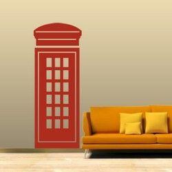 Αγγλικός τηλεφωνικός θάλαμος, αυτοκόλλητο τοίχου,18,30 €,https://www.stickit.gr/index.php?id_product=652&controller=product