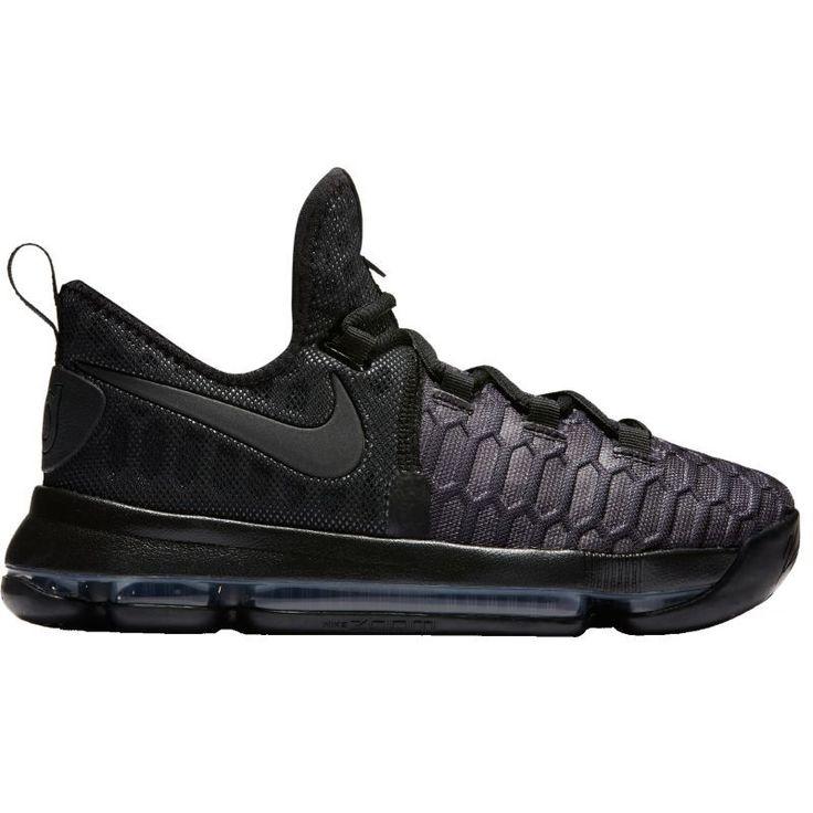 Nike Kids\u0027 Grade School Zoom KD 9 Basketball Shoes, Size: 4.0, Black