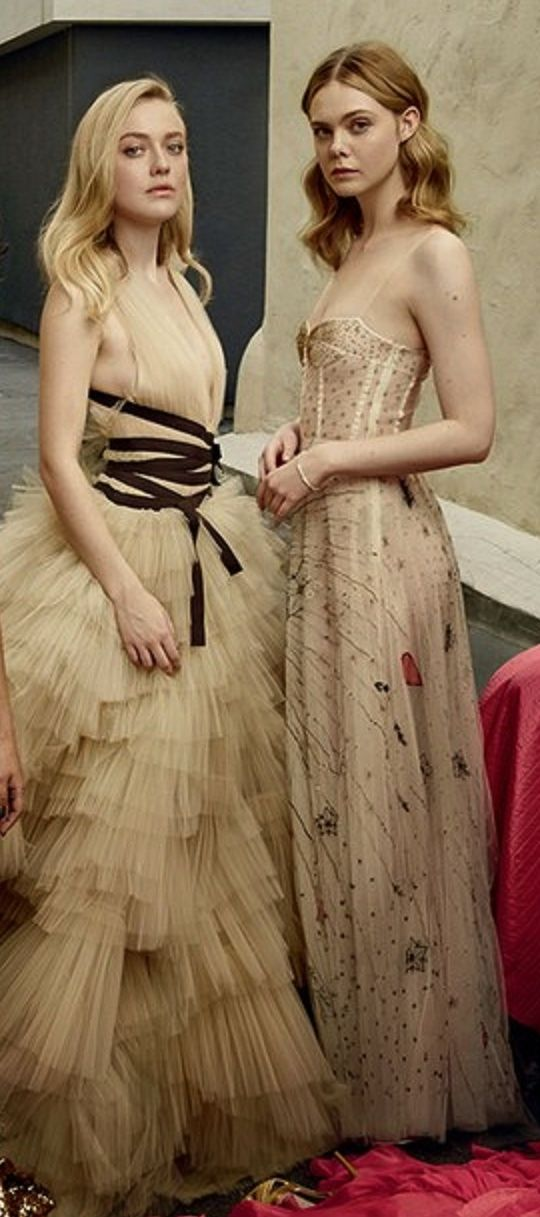 Dakota and Elle Fanning - Vanity Fair