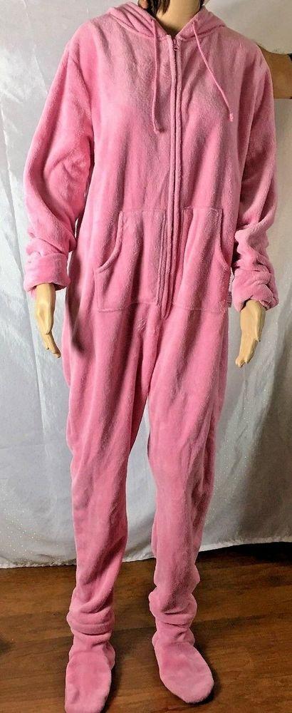 Pajamagram Pink Fleece Hoodie Footie Hers Large Christmas Pajama Nice Gift #PajamaGram #Onesie #Everyday