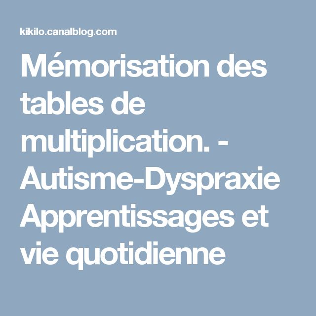 1000 id es sur le th me l 39 apprentissage des tables de for Apprentissage table de multiplication