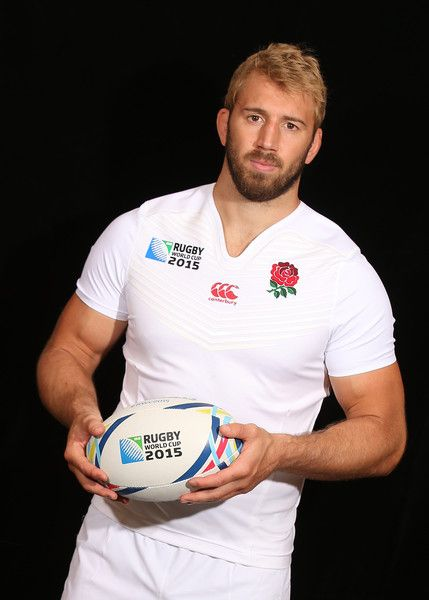 Chris Robshaw, the England captain, poses at Pennyhill Park on August 26, 2015 in Bagshot, England.