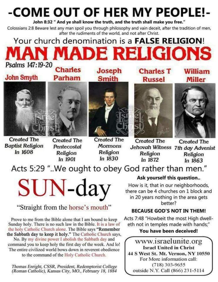 Religion is man made