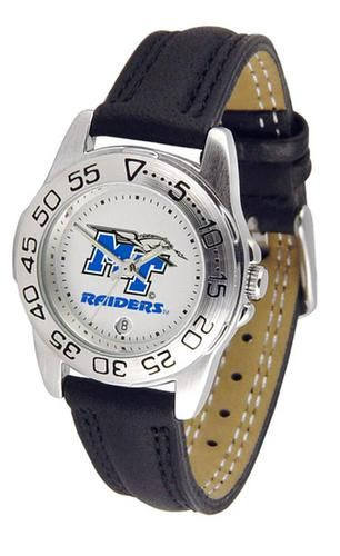 Middle Tennessee State MTSU Women's Leather Band Athletic Watch