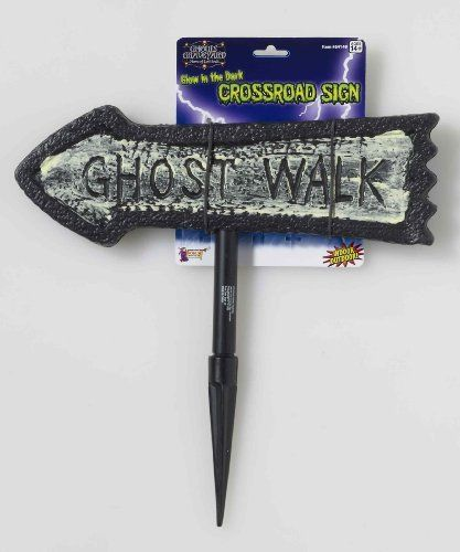 Glow in the Dark Crossroad Sign - Ghost Walk by Forum Novelties. $3.99. Includes 1 plastic Glow in the Dark Ghost Walk Sign with plastic stake.. Save 64%!