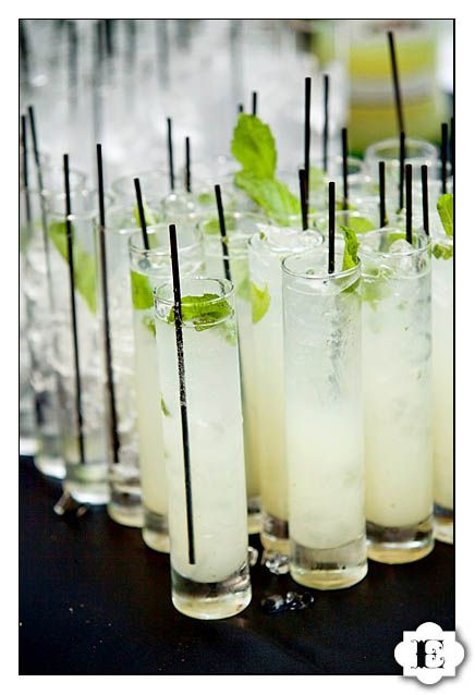 tall skinny glasses for juice, mojitos etc.