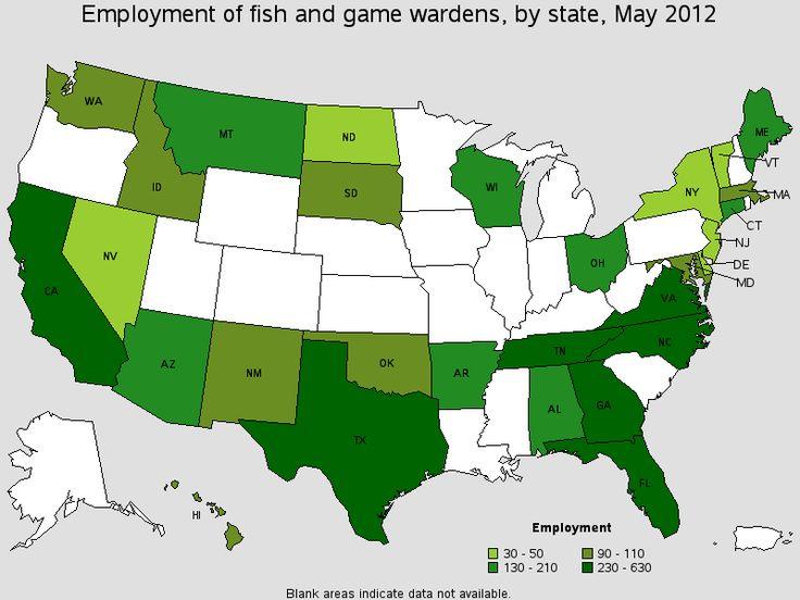 labor statistics regarding game warden/wildlife management