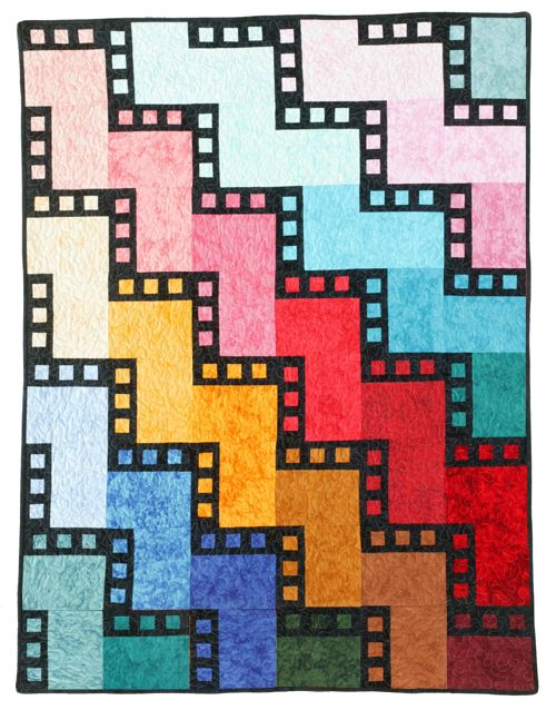 Back to School Party: Another version of Frame by Frame, this one in RJR Fabrics, made by Charlotte Pollard.