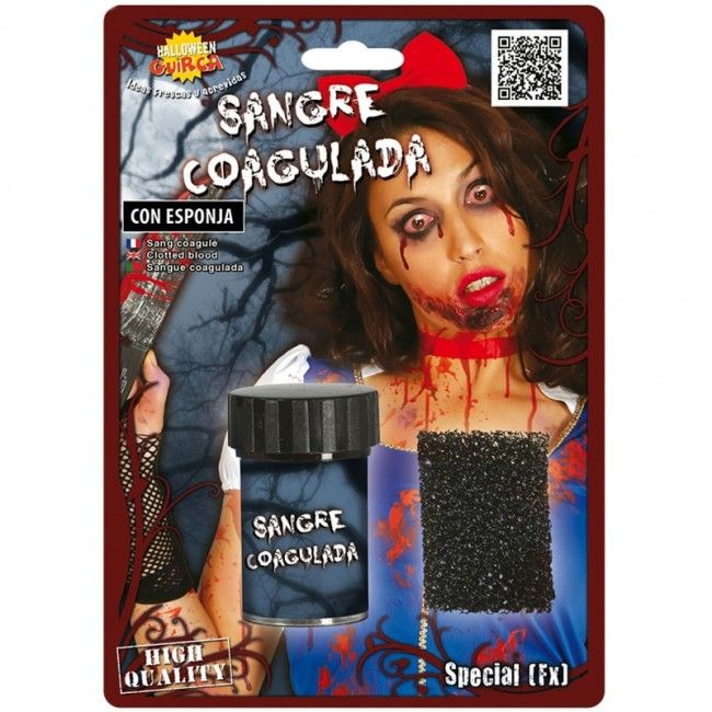Sangre Coagulada con esponja #maquillajehalloween #efectosespeciales