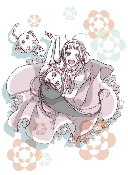 el mismo dibujo de kozue Amano , pero sin su firma , bien lindo